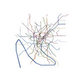 Paris metro map Stock Photos