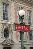 Paris Metro sign Royalty Free Stock Photos