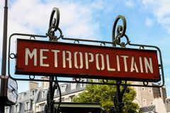 Paris metro sign Royalty Free Stock Images