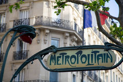 Paris Metro Sign - 01 Royalty Free Stock Photography