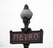 Paris Metro Sign Stock Image