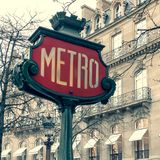 Paris Metro Sign royalty free stock photos