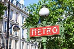 Paris Metro Sign Stock Image