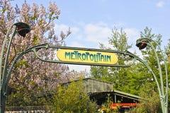 Paris Metro Sign. Metro Sign for Subway Transportation in Paris, France royalty free stock photography