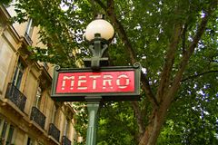Paris Metro 01 Stock Photo