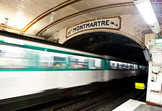 Paris Metro Station. One of the oldest metro station in Europe - Paris underground royalty free stock photography