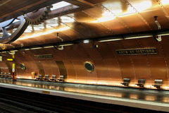 Paris metro station Stock Images