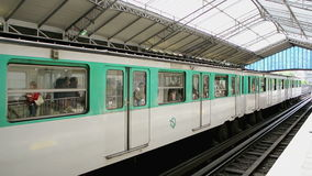 Paris Metro Station stock video footage