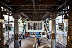 Paris, Metro station. Metropolitan line, france Stock Photos