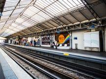 Paris, Metro station. Metropolitan line, france Royalty Free Stock Photo