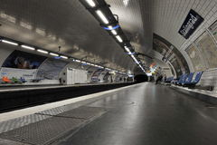 Paris, Metro Station Stalingrad Stock Photos