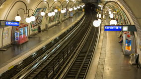 Paris metro station Timelapse stock footage