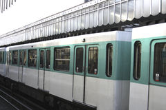 Paris Metro Train Royalty Free Stock Photography