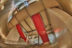 Paris Metro undergound  interior with fisheye and HDR effect Stock Photo