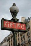Paris-Metro-Zeichen Stockfotografie