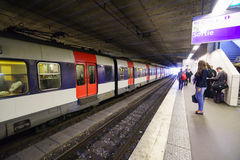 Paris metropolitain interior Royalty Free Stock Photo