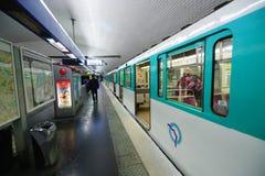 Paris metropolitain interior Stock Image