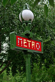 Paris Metropolitain sign Royalty Free Stock Images