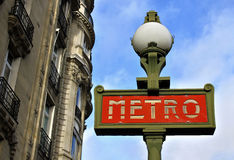 Paris-Metrozeichen Lizenzfreies Stockbild