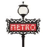 Paris-Metrozeichen Lizenzfreies Stockfoto