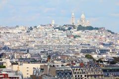 Paris - Montmartre. Montmartre aerial view with famous Basilica Sacre Coeur. Paris, France Stock Image