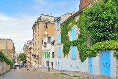 Paris. Montmartre. Paris. Beautiful street on the Montmartre hill Royalty Free Stock Photo