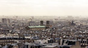 Paris from Montmartre. Aerial view cityscape of Paris from Montmartre Stock Photography