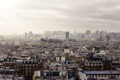 Paris from Montmartre. Aerial view cityscape of Paris from Montmartre Stock Photo
