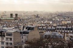 Paris from Montmartre Stock Photos