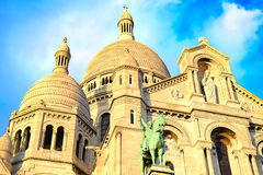 Paris Montmartre church Stock Images