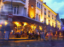 Paris - Montmartre at night - La Boheme Stock Image