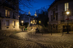 Paris Montmartre och basilika av Sacre-Coeur Arkivfoto