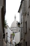 Paris Montmartre Street. One of the lovely and forgotten streets of  Montmartre in Paris, France Royalty Free Stock Image