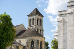 Paris Montmatre Cathedral detail. Paris Montmatre Cathedral on sunny day Royalty Free Stock Photography