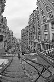 Paris Montmatre view. In black and white Royalty Free Stock Photo