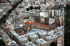 Paris. From the Montparnasse. Paris. A sight from the Montparnasse tower. July 2007 Stock Photo