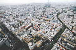 Paris from montparnese. Paris from above taken on a gloomy day stock image