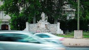 Paris Monument Alphand stock video