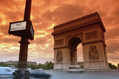 Paris monument, charles de Gaule place Royalty Free Stock Photography