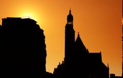 Paris morning at Saint-Etienne-du-Mont. Paris sunrise at Saint-Etienne-du-Mont church Royalty Free Stock Image