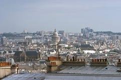 Paris motmartre widok wzgórza Obrazy Royalty Free