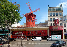 Paris - The Moulin Rouge cabaret Royalty Free Stock Photo