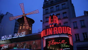 Paris, Moulin Rouge video stock video footage