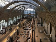 Paris, Musse d& x27;Orssay. Enterior of the Orsay museum, top view Stock Images