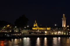 Paris na noite Foto de Stock