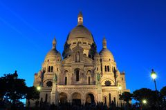 Paris na noite Foto de Stock Royalty Free
