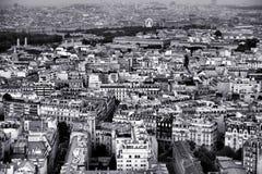 Paris na noite vista de 300 m acima da terra Fotos de Stock