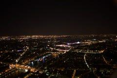 paris Nachtansicht vom Eiffelturm Stockbild