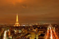 Paris nachts Lizenzfreies Stockfoto