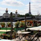 Paris, nahe dem Seine. Frankreich Stockfotografie